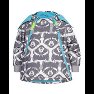 Tolle Outdoor Regenjacke  - Waschbär blau