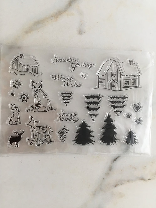 """Clearstamps Nr. 1 """"Waldtiere"""""""