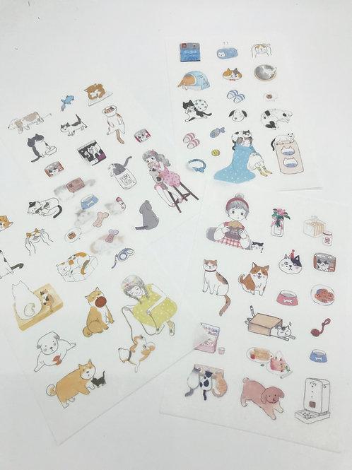 Coole Kawaii Stickers von Ownday - 4 Blätter mit Stickers in einem Set