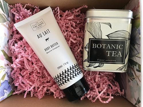 Geschenkset in Blumenbox