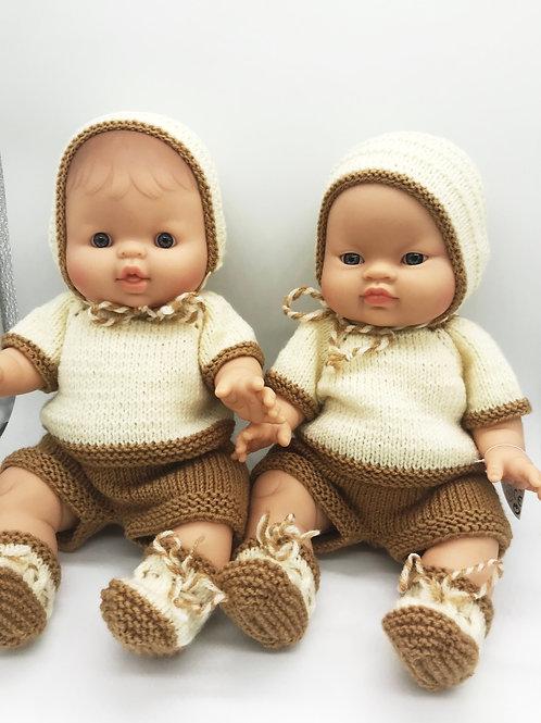 Puppen Jungs von Paola Reina inkl. 4 teiligem Outfit von Petit Lapin