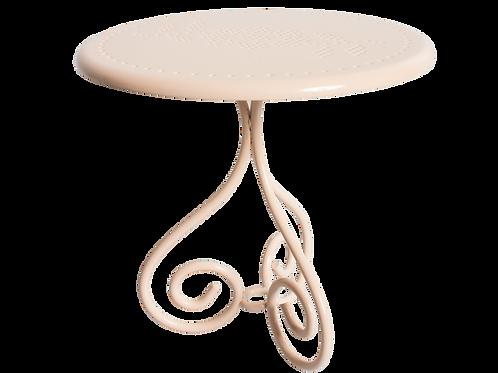 Romantisches Tischchen aus Metall -rosa oder weiss