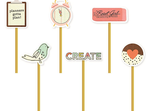 The Reset Girl - 6 decorative Metall Clips