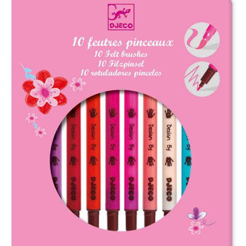 10 Filzpinsel Pinktöne