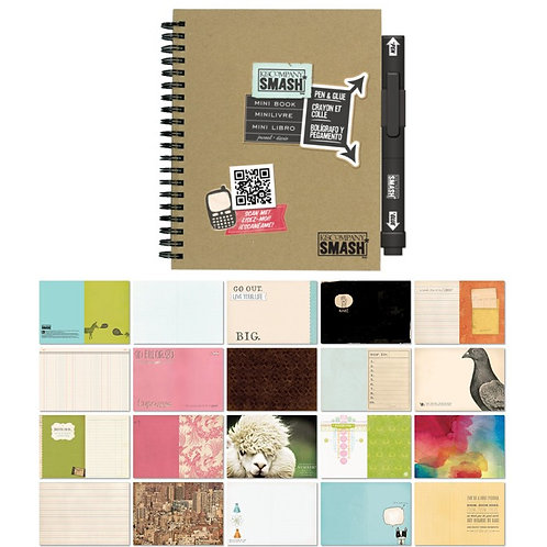 SMASH Book MINI - Schwarz mit Stift/Leim
