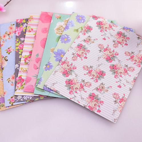 Florale Briefumschläge bedruckt