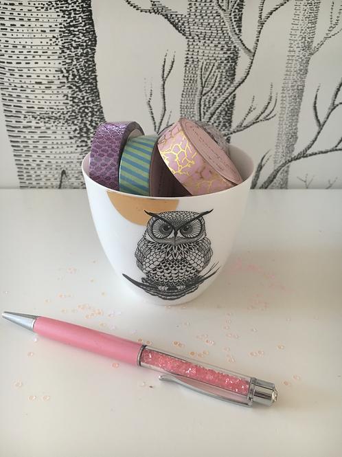 Geschenkset 2 - Keramikgefäss/Stift /5 Washitapes