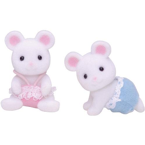 2er Set - Weisse Mäuse Zwillinge