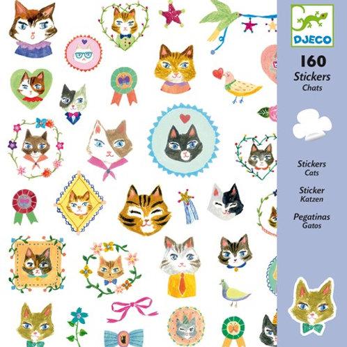 Sticker-Set - 160 Sticker - Katzen