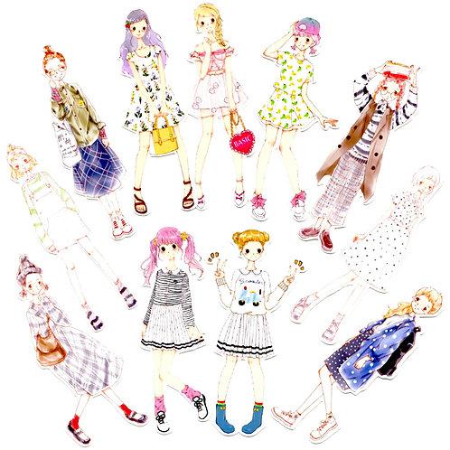 Süsse Stickers - Girls Serie 5 - 11 Stück