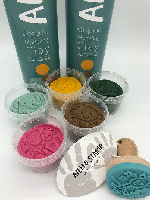 Set organische Knete mit 5 Farben - 5 x 100 g