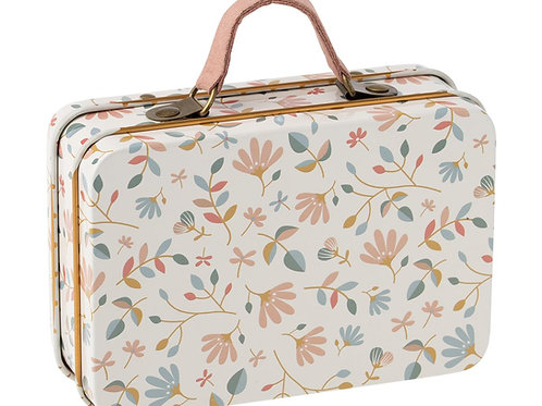 Koffer mit Blümchenprint - weiss