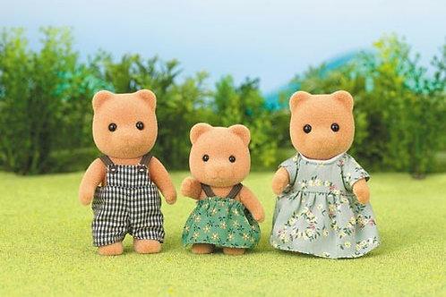 3er Set - Bärenfamilie braun