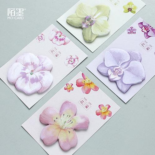 30 Blatt Haftnotizen Blumen oder Schmetterlinge