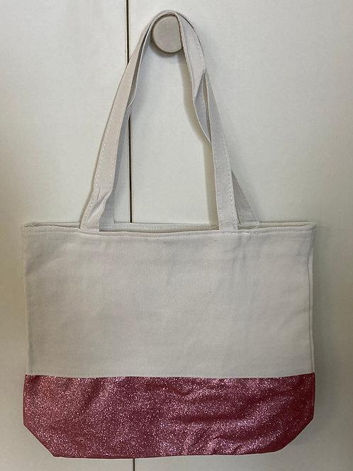 Stofftasche mit Glitzer für kreative Projekte - gold, rosa oder violett