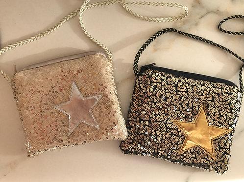 Kleine Pailletten Tasche Stern