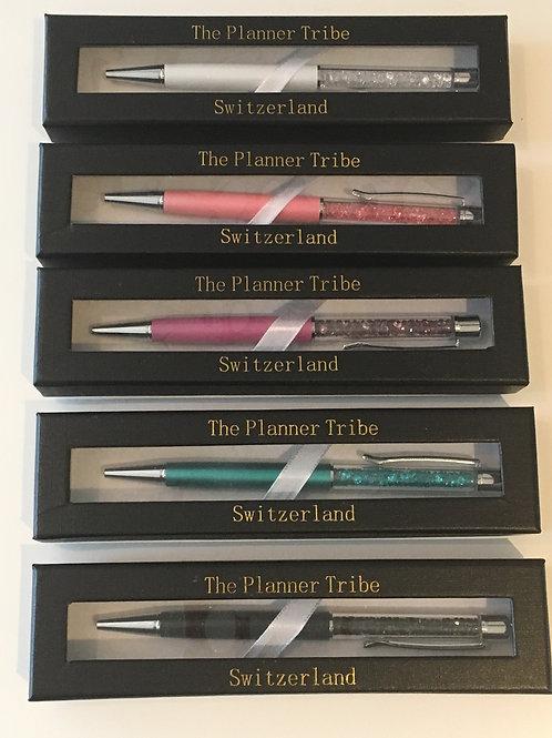 Kristall Kugelschreiber aus Metall - 5 Farben