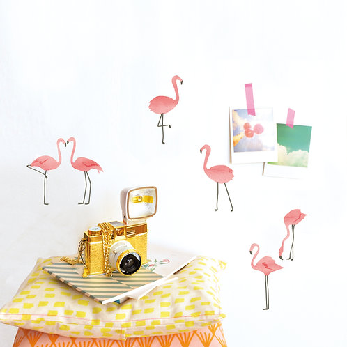 Wandsticker Flamingos