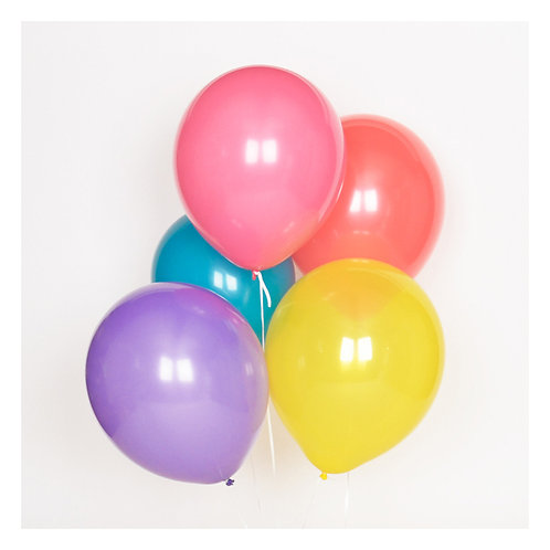 10er Set Ballone - 5 Farben