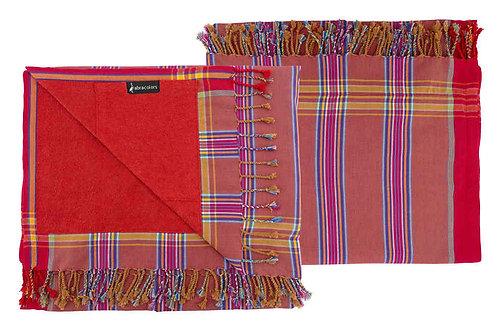 Wunderschönes Strandtuch - Rot mit Streifen - KT1501