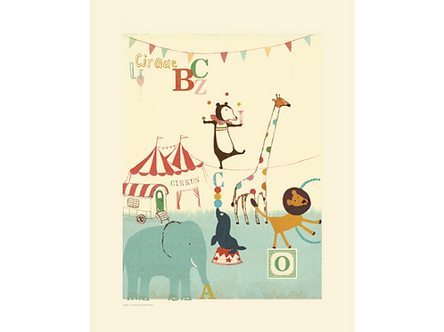 Zirkusposter Maileg fürs Kinderzimmer
