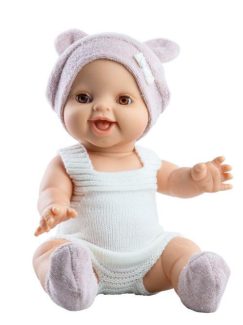 Babypuppe Mädchen hell  - 34 cm mit Strickkleid