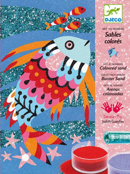 Sandbilder - Regenbogenfisch