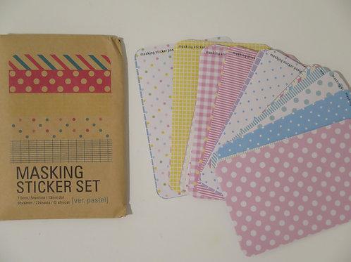 Masking Sticker Set Papierverpackung - 27 Blätter