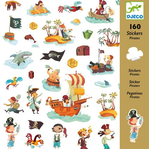 Sticker-Set - 160 Sticker - Piraten