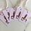 Thumbnail: 5er Set Geschenkanhänger aus Leinenpapier