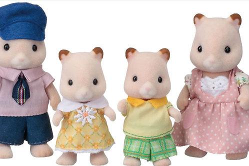 4er Set - Hamsterfamilie