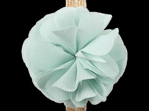 Haargummi mit Chiffonblume helles türkis