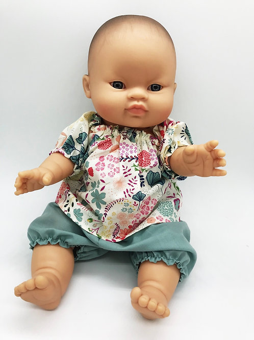 Puppen Mädchen von Paola Reina inkl.Outfit von Petit Lapin
