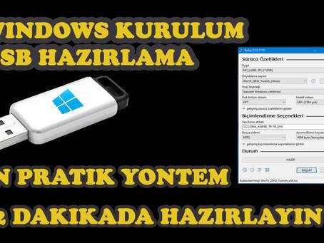 Windows Kurulum USB Hazırlama I En pratik Yöntem I RUFUS