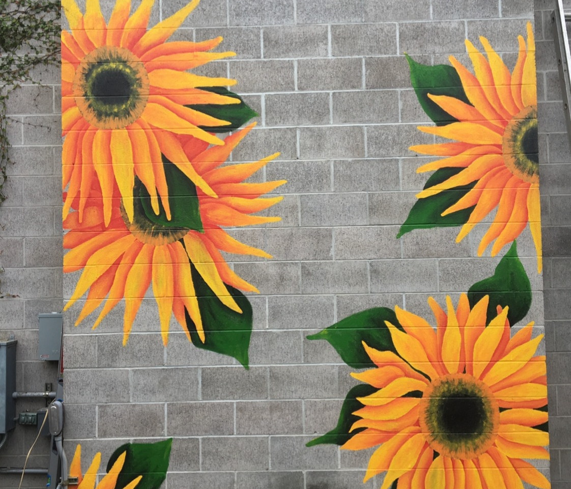 sunflower wall