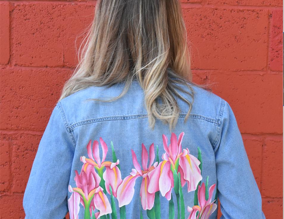 pink iris jacket