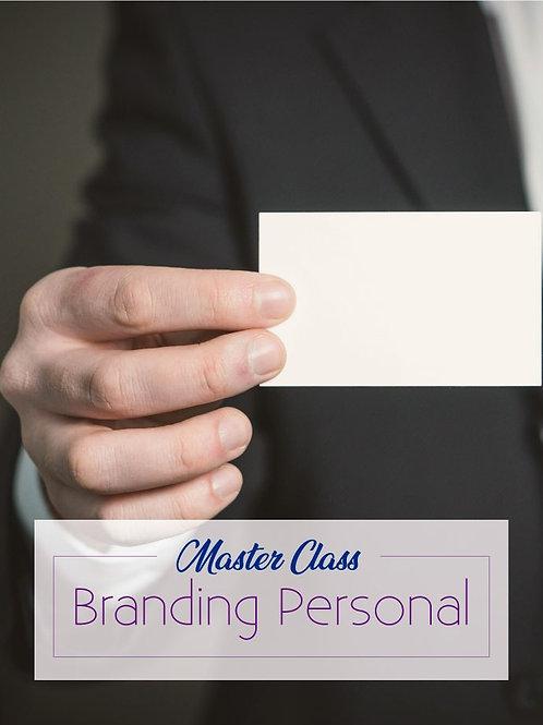 Master Class Branding Personal