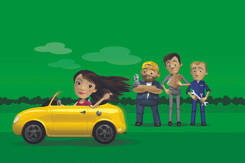 Character Illustrations for Nationwide Autocentres