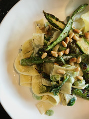 Isle of Wight asparagus with pine nuts