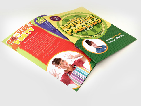 Leaflet for Katy's Adventure Parties