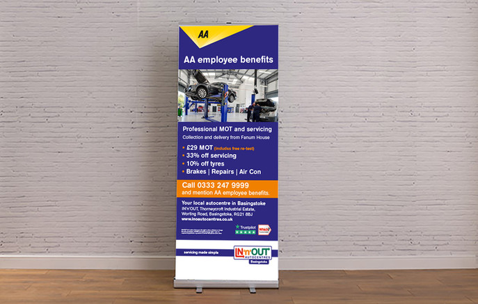 Promotional Rollerbanner Design