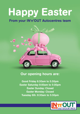 InNOut Easter Opening Hours Poster ARTWO