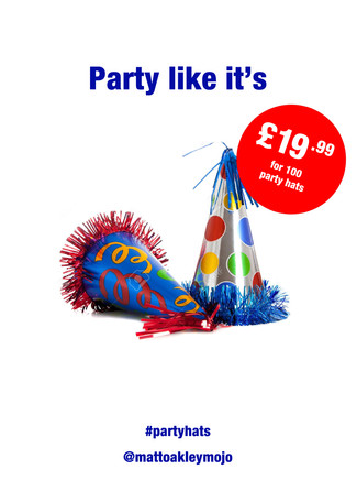 Advertise Party Hats