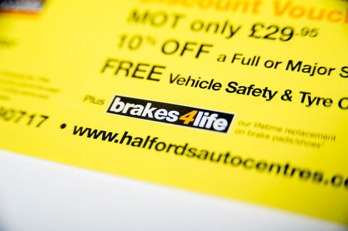 Brakes4Life Branding for Halfords