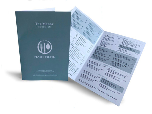 Main Menu for The Manor, Croyde