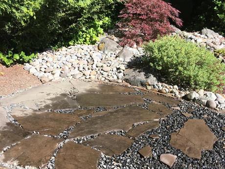 Building a rock pathway