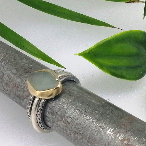 Seaglass Silver and Gold Stack
