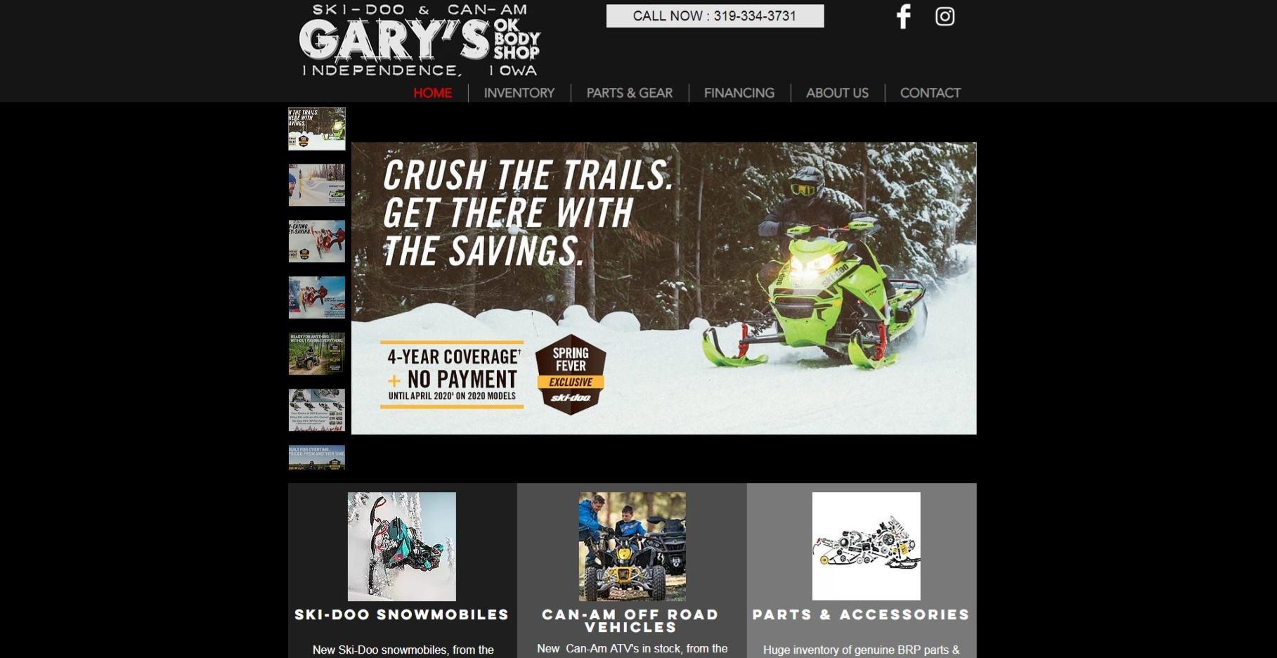 Home | Gary's Ski-Doo & Can-Am | Independence, Iowa
