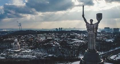 The Motherland Monument in Kiev Ukraine
