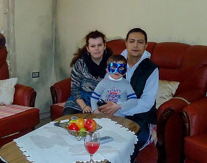 Albanian family in living room